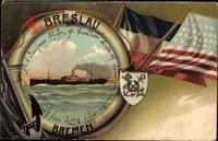 Passepartout Dampfschiff Breslau, Norddeutscher Lloyd Bremen, USA