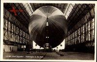 LZ 127, Graf Zeppelin, Einbringen in die Halle
