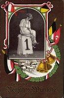 Passepartout Glückwunsch Neujahr, Patriotik, Türkei, Österreich, Kalender