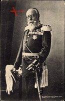 Großherzog Friedrich von Baden, Portrait in Uniform, Säbel