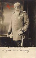 Großherzog Friedrich von Baden, Standportrait, Uniform, Säbel