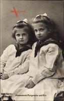 Prinzessinnen Margarethe und Alix von Sachsen, Hahn