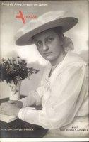 Prinzessin Anna, Herzogin von Sachsen, Buch lesend