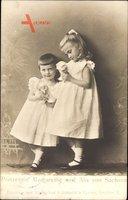 Prinzessin Margarethe und Alix von Sachsen, Mit Puppen