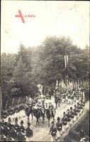 Gießen an der Lahn Hessen, Kaiser Wilhelm II., Parade