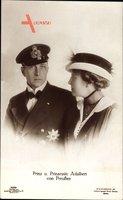 Adalbert Prinz von Preussen, Adelheid von Sachsen Meiningen