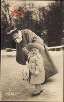 Prinz Berthold von Baden, Frühe Jahre, Mantel, Hut, Kindermädchen