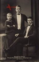Kronprinz Georg, Prinzen Friedrich Christian u. Ernst Heinrich