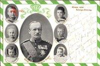 Passepartout König Friedrich August III. von Sachsen, Prinzen, Prinzessinnen