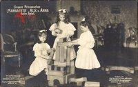 Prinzessinnen Margarete, Alix und Anna von Sachsen, Spielklötze