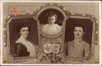 Kaiser Karl I. von Österreich Ungarn,Kaiserin Zita,Kronprinz Franz Josef Otto