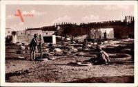 Meknès Marokko, La Tannerie, Gerber bei der Arbeit