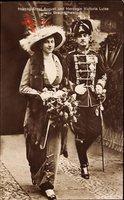 Herzog Ernst August von Braunschweig Lüneburg, Totenkopfhusar, Viktoria Luise