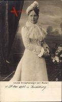 Großherzogin Louise von Baden, Standportrait, Weißes Kleid