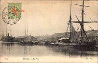Tunis Tunesien, Le Port, Blick in den Hafen, Segelschiffe