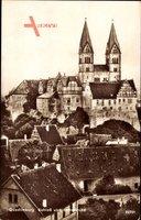 Quedlinburg im Harz, Blick auf Schloß und Stiftskirche