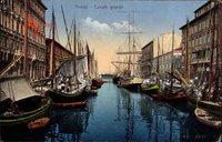 Triest Friuli, Canale grande, Großer Kanal, Segelschiffe