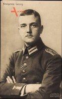 Kronprinz Georg von Sachsen, Portrait, Uniform, Kragenspiegel