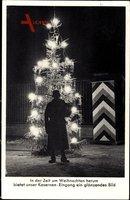 In der Zeit um Weihnachten herum bietet unser Kaserneneingang.., Wachtposten