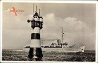 Seebäderdampfer Roland, Norddeutscher Lloyd Bremen, Rotesandleuchtturm