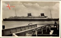 Cuxhaven in Niedersachsen, Dampfer Europa, Norddeutscher Lloyd Bremen