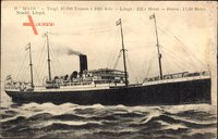 Dampfer Main, Norddeutscher Lloyd Bremen, Ansicht Steuerbord
