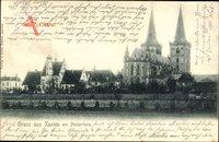 Xanten am Niederrhein, Teilansicht vom Ort mit Blick auf die Kirche