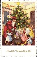 Frohe Weihnachten, Weihnachtsmann, Engel, Geschenke