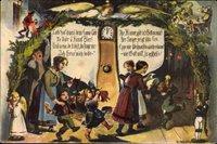 Frohe Weihnachten, Dr Weihnachtsheiligohmd, Erzgebirge, Uhr, Engel