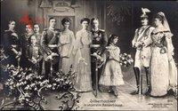 Silberhochzeit, Deutsches Kaiserhaus, Wilhelm II., Söhne, Tochter