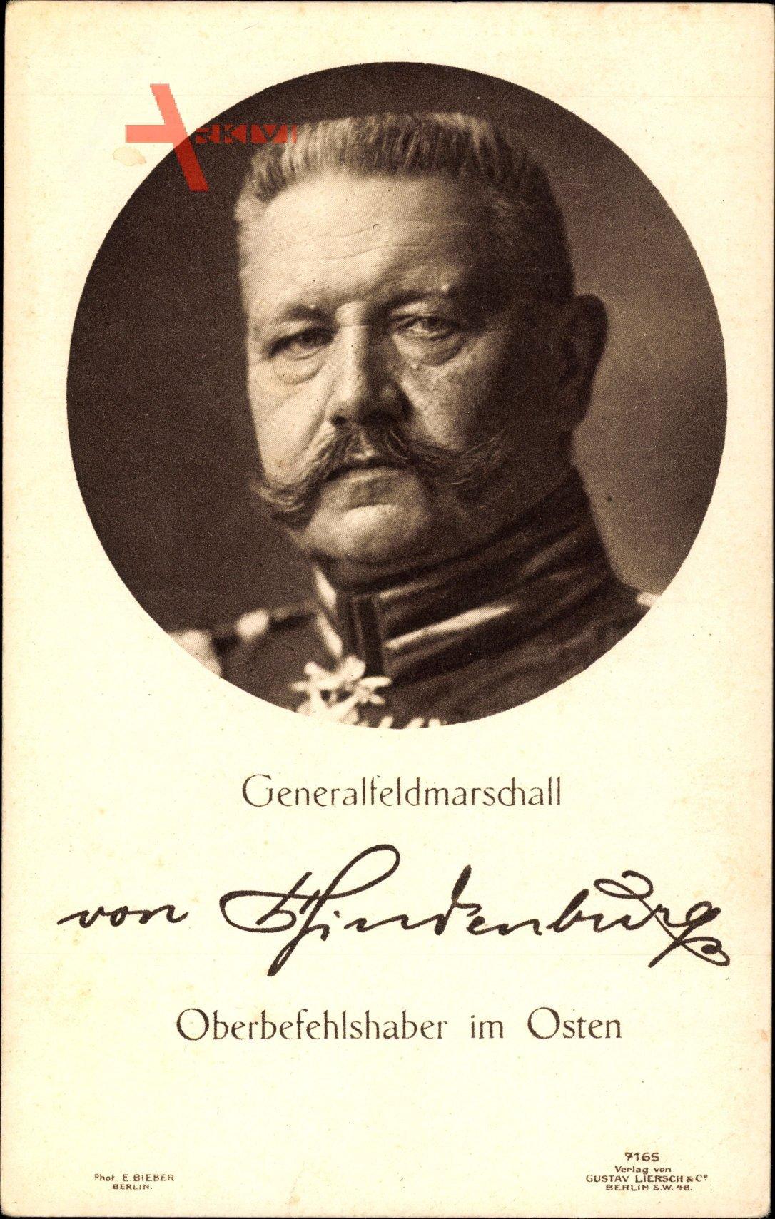 Generalfeldmarschall Paul von Hindenburg, Liersch 7165