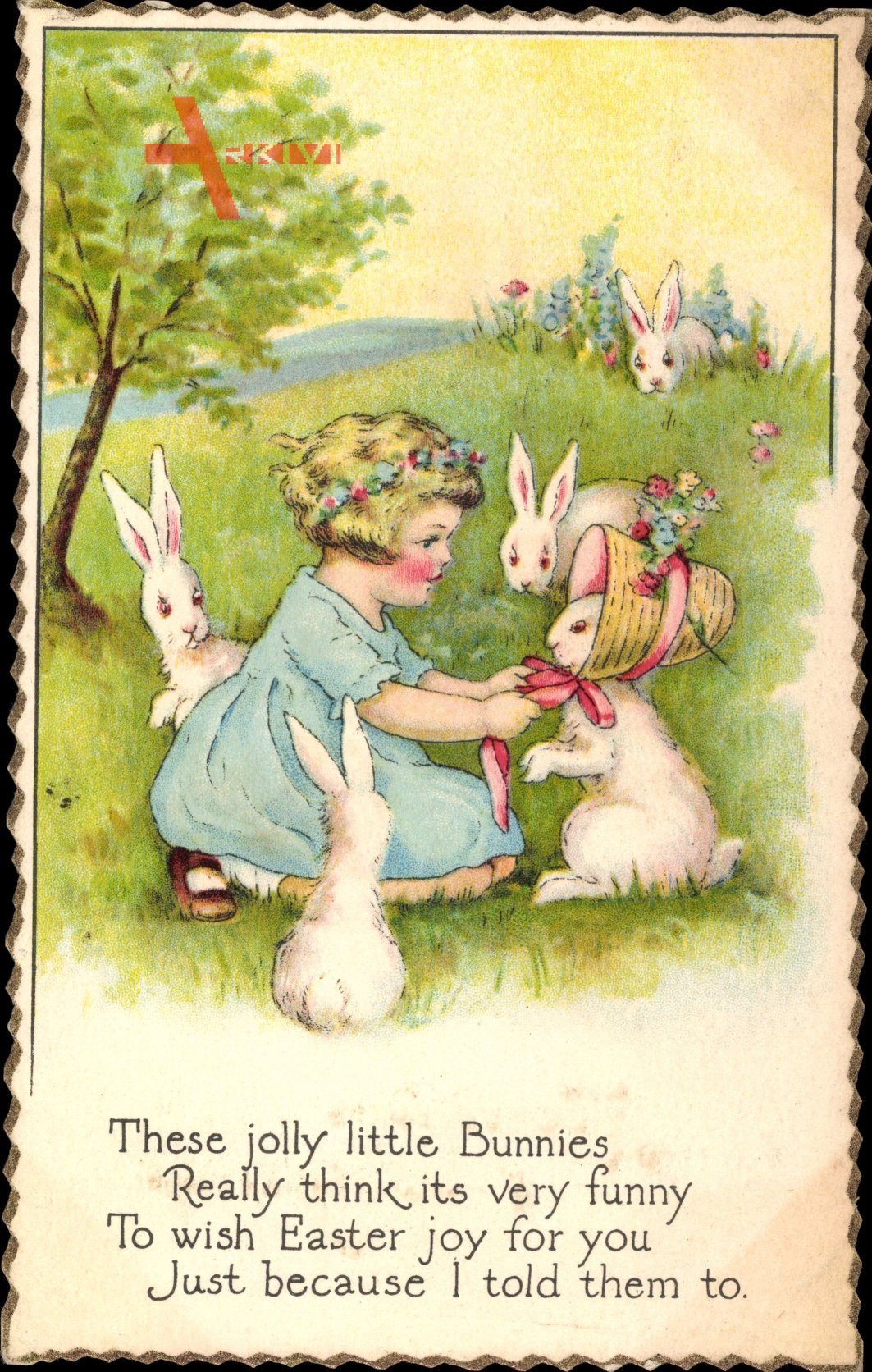 Glückwunsch Ostern, These jolly little Bunnies really think its very funny