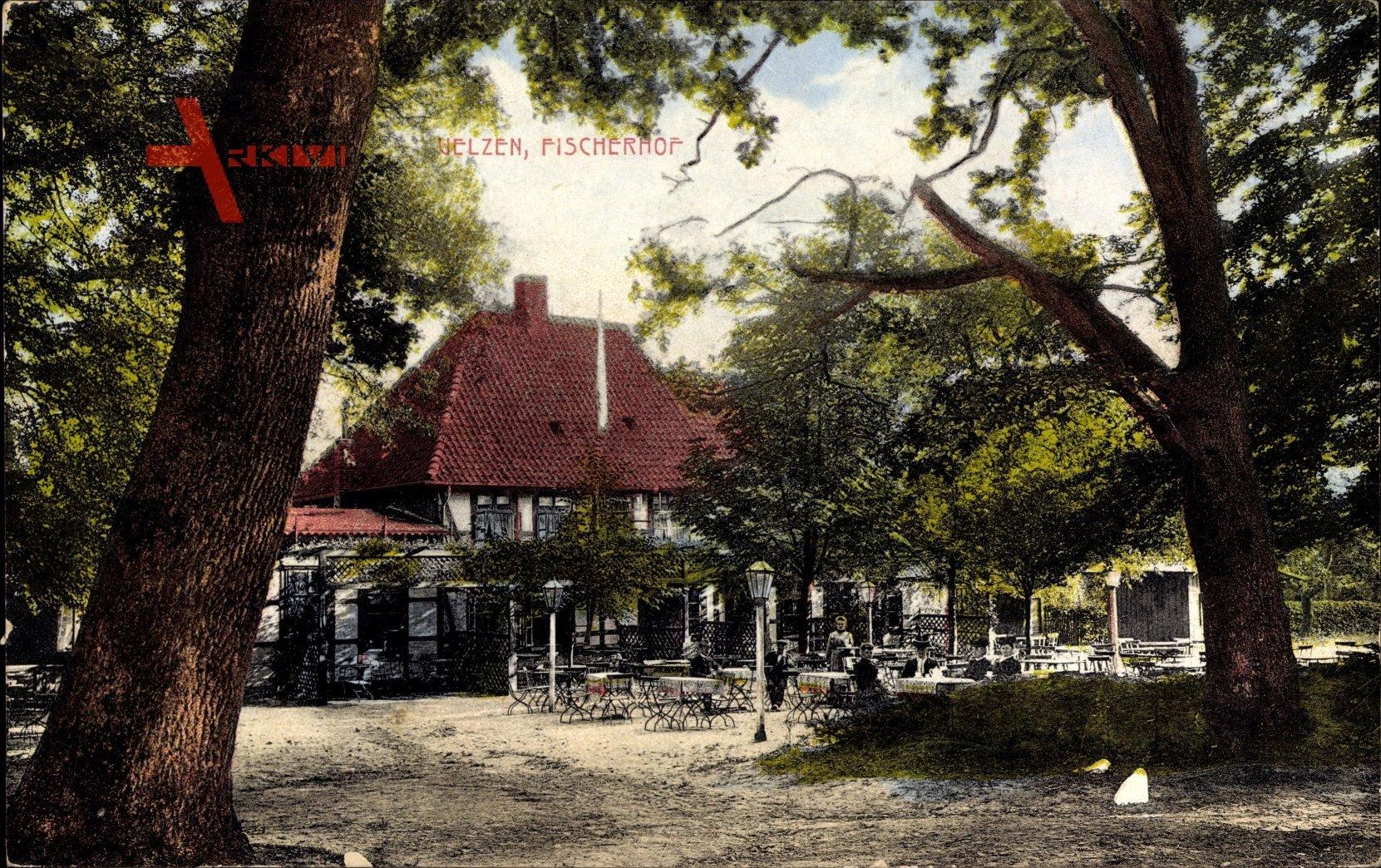 Uelzen in Niedersachsen, Blick in den Garten des Fischerhofes