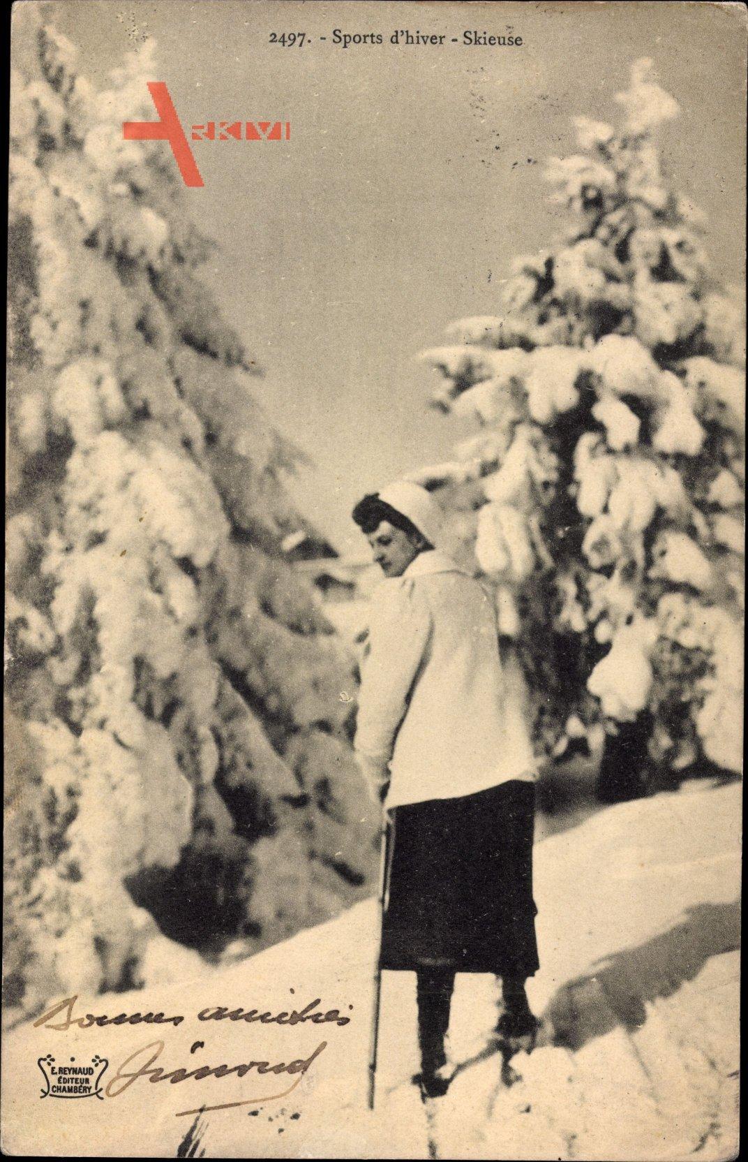 Sports dhiver, Skieuse, Skiläuferin, Winter, Schnee