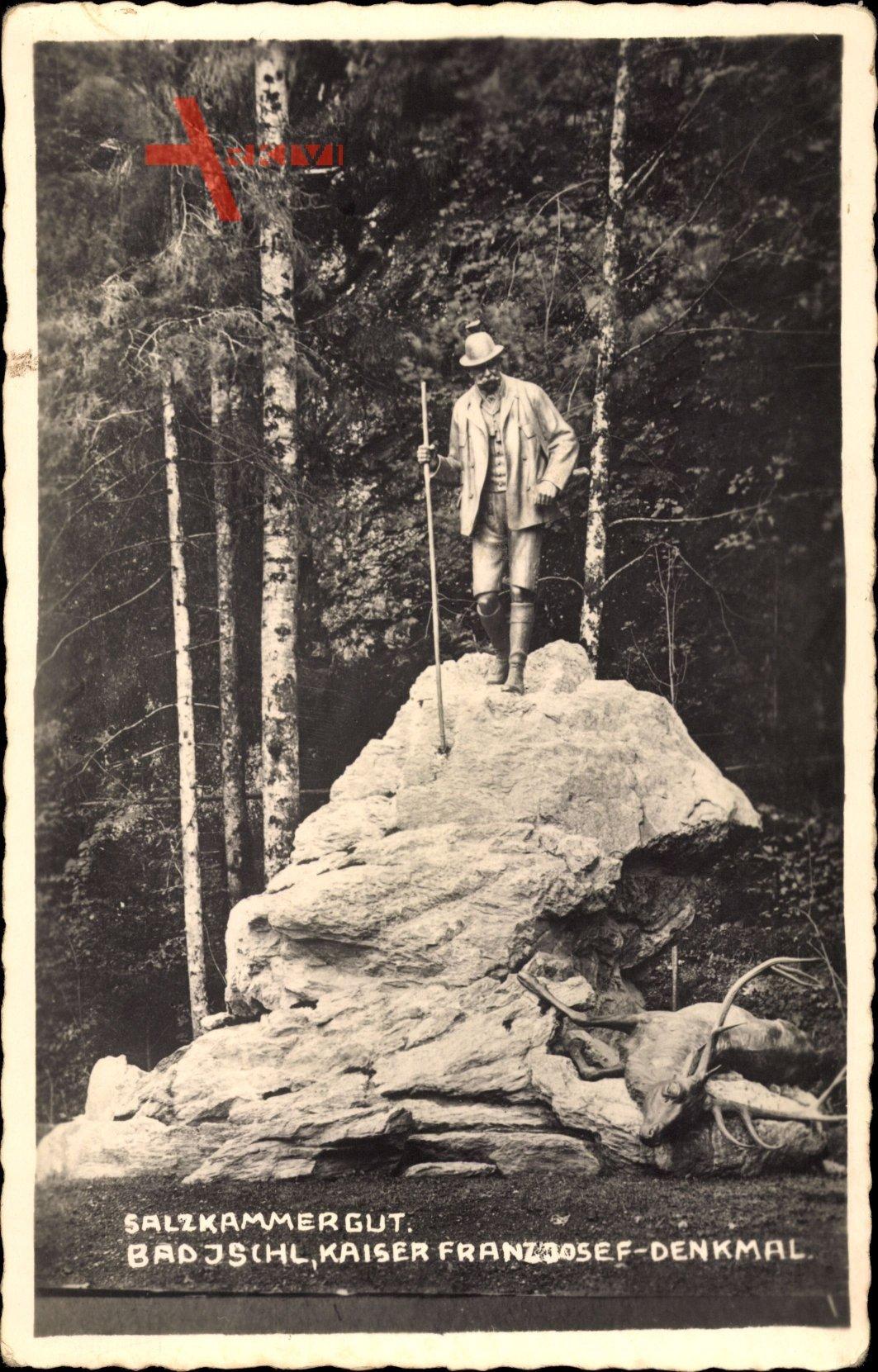Bad Ischl Salzkammergut Oberösterreich, Blick auf Kaiser Franz Josef Denkmal