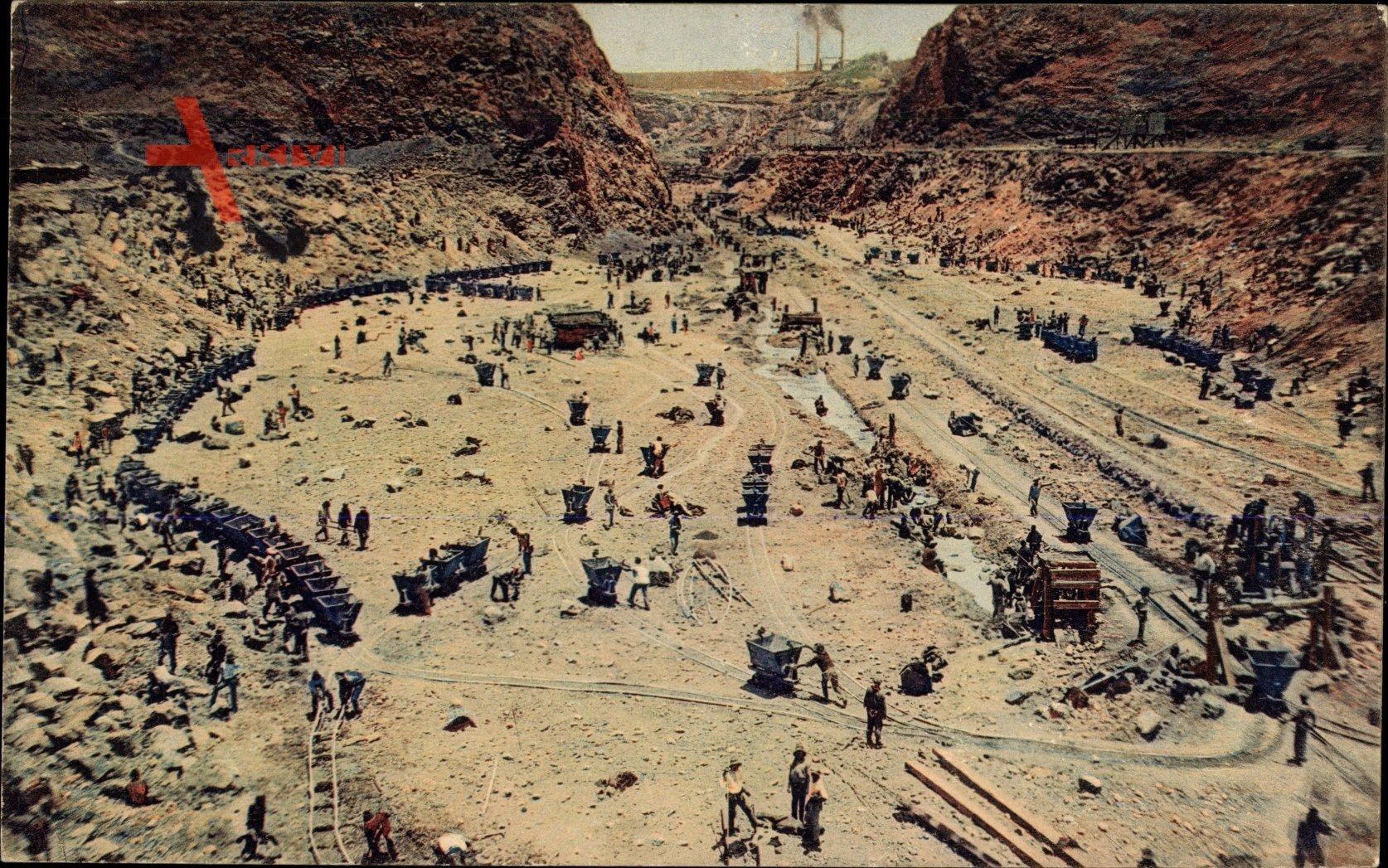 Südtransvaal Südafrika, Arbeit in der Premier Diamond Mine, Östlich Pretoria