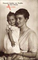 Prinzessin Marie Auguste von Anhalt, Ehefrau Prinz Joachim von Preußen, Sohn
