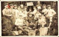 Deutsche Soldaten, Gruppenfoto, Weltkrieg 1916, Uniformen, Musiker