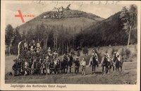 Augustusburg, Jagdwagen des Kurfürsten Vater August, Residenz, Reiter