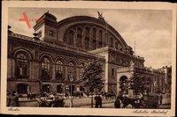 Berlin Kreuzberg, Blick auf den Anhalter Bahnhof, Kutsche, Passnaten, Laterne