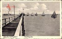 Kellenhusen, Ostseebad, Segelregatta, Steg, Zuschauer, Fahne, Segelschiffe
