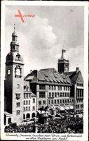 Chemnitz Sachsen, Tausende lauschen dem Uhren und Glockenspiel