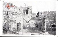 Hermsdorf am Kynast Schlesien, Teilansicht der Burgruine Kynast, Mauer