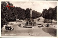 Berlin Tiergarten, Blick auf den Kemperplatz, Kreisverkehr, Denkmal