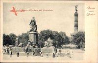 Berlin Tiergarten, Blick auf das Bismarck Denkmal und die Siegessäule