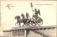 Berlin Mitte, Siegeswagen auf dem Brandenburger Tor, Quadriga