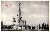 Berlin Charlottenburg, Blick auf die Ausstellungshallen mit Funkturm