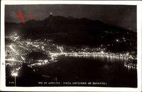 Rio de Janeiro Brasilien, Vista Noturna de Botafogo, Nachtbeleuchtung