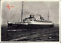 Dampfschiff Europa, Norddeutscher Lloyd Bremen, Ansicht Bug Backbord
