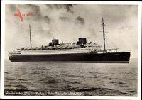 Dampfschiff Bremen, Norddeutscher Lloyd Bremen, Ansicht Steuerbord